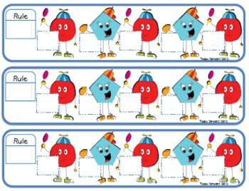 Skip Counting Shapes Math Center FILLABLE