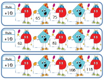 Skip Counting Shapes Math Center FREEBIE