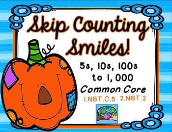 Skip Counting Smiles Fall Theme Common Core