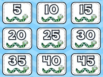Skip Counting Snake Cards (By 2's, 5's, 10's)