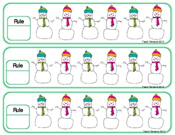Skip Counting Snowmen Puzzles Fillable