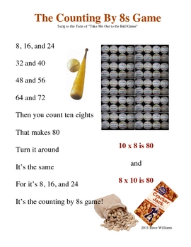 Skip Counting Song by Eights Poster