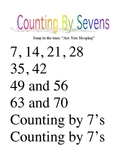 Skip Counting Song by Sevens Poster