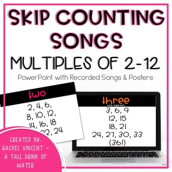 Skip Counting Songs for Numbers 2-12