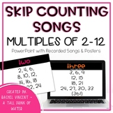 Multiplication Skip Counting Songs for Numbers 2-12