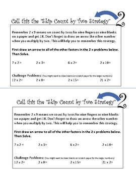 Skip Counting Strategy for Multiplication - Mini Workbook - Second, Third Grade