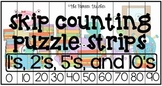 Skip Counting Strip Puzzles (1s, 2s, 5s, 10s)