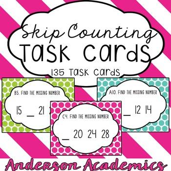 Skip Counting Task Card Bundle