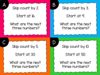 Skip Counting Task Cards {Digital}