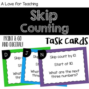 Skip Counting {Task Cards}