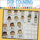 Skip Counting Cards and Puzzles- Counting by 2's, 5's and 10's