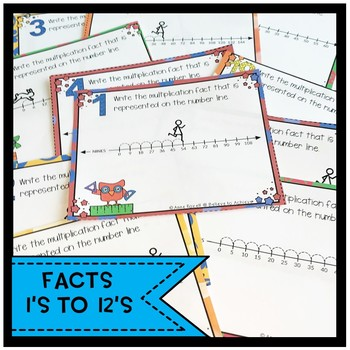 Skip Counting (using Number lines) Task Cards-  BUNDLE