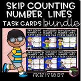 Skip Counting (using Number lines) Task Cards-  BUNDLE