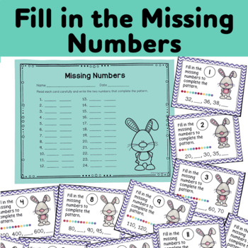 Three Sets of Skip Counting Task Cards (Scoot)
