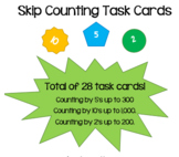 Skip Counting Task Cards (for learning or practice)