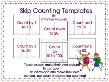Skip Counting Templates  6 Different Counting Sheets