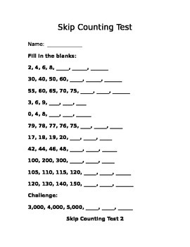 Skip Counting Tests