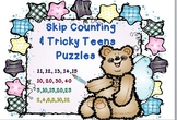 Teen Numbers & Skip Counting Puzzles