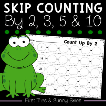 Skip Counting Up and Down by 2, 3, 5 and 10 {70 Pages - Just Print & Go!}