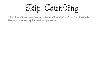 Skip Counting Valentine Freebie