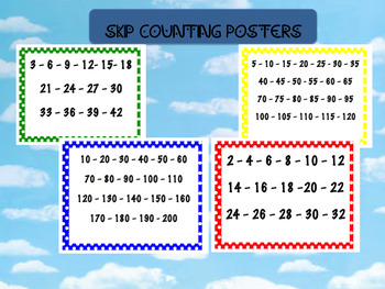 Skip Counting Wall Posters