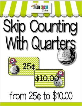 Skip Counting With Money: 218 Coin Cards and 8 Posters