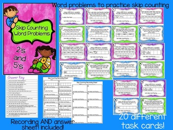 Skip Counting Word Problem Scoot