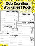 Skip Counting Worksheet Pack