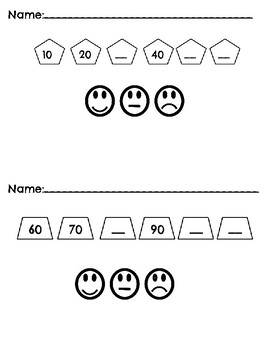 Skip Counting Worksheet and Self-Assessment