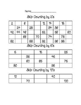 skip counting worksheets by hakuna matata teachers pay teachers. Black Bedroom Furniture Sets. Home Design Ideas