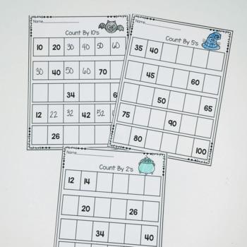 Skip Counting Printables- Halloween Themed