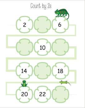 Skip Counting Worksheets 2, 3, 4, 5, 6, 7, 8, 9, 10, 11, 12 (and backwards)