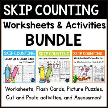 Skip Counting Worksheets - Skip Counting Activities BUNDLE