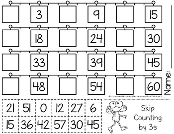 Skip Counting by 3s Worksheets