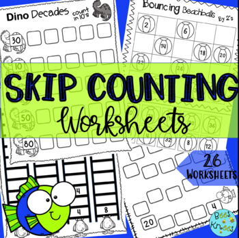 Skip Counting Worksheets for 2,3,4,5 and 10