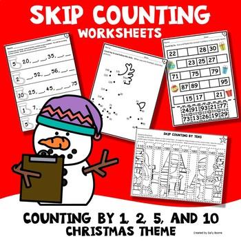 Skip Counting Worksheets Christmas Theme