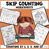 Skip Counting Worksheets - Puzzles, Fill in the Blank, Cut