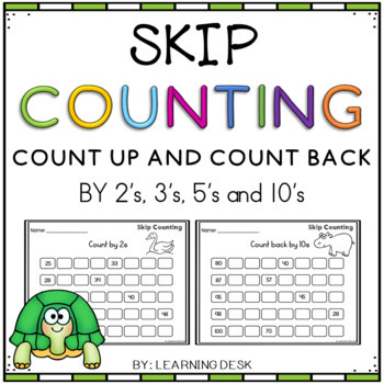 Skip Counting Worksheets and Skip Counting Activities BUNDLE