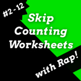 Skip Counting Worksheets with Multiplication Activities & Songs *Growing Bundle