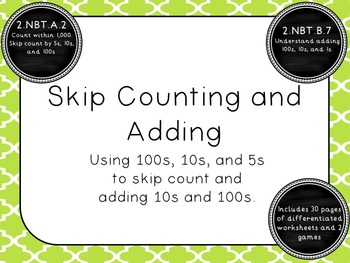 Skip Counting and Adding 10s and 100s