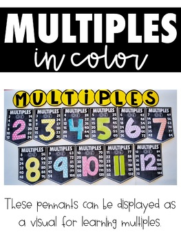 Skip Counting and Multiples Pennants