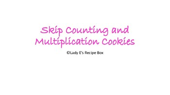 Skip Counting and Multiplication Cookies