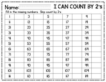 skip counting and number patterns using hundreds charts printable. Black Bedroom Furniture Sets. Home Design Ideas
