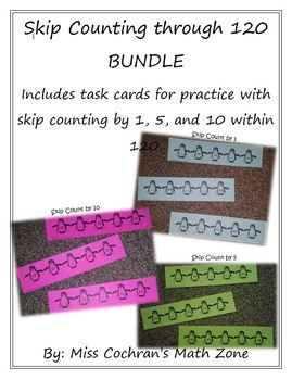 Counting by 1, 5, & 10 through 120 BUNDLE