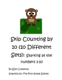 Skip Counting by 10 (10 Different Sets): Starting with the numbers 1-10