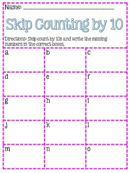 Skip Counting by 10  (2.NBT.A.2)