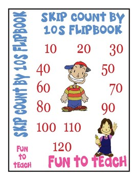 Skip Counting by 10 Flip book - Color, Cut and Assemble!