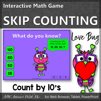 Skip Counting by 10 Interactive Math Game {Love Bug}