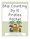 Skip Counting by 10 Pirates Packet
