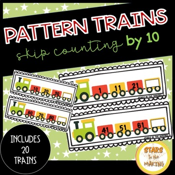 Skip Counting by 10 Trains (Numbers through 100)
